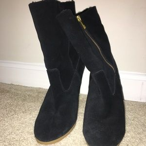 Coach Fleece-Lined Ankle Boots